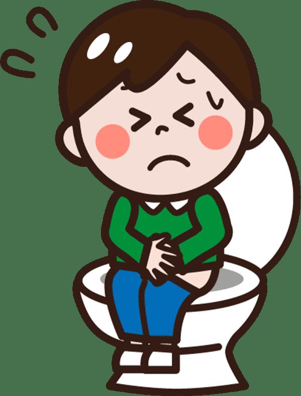 【イラスト】便秘に苦しむ男の子