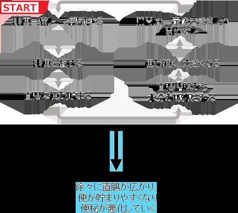 【図】便秘の悪循環(スマホ)